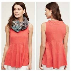 Anthropologie Deletta Mock Neck Swing Tank